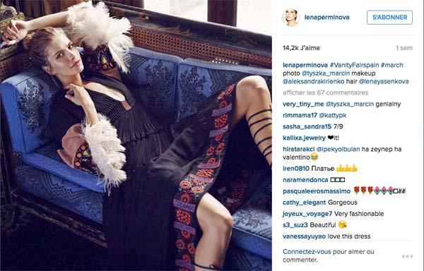 Luxe tendances Elena Perminova fashionista russe