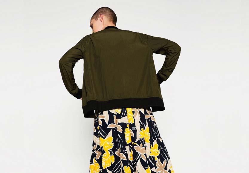 Tendances mode bomber Zara