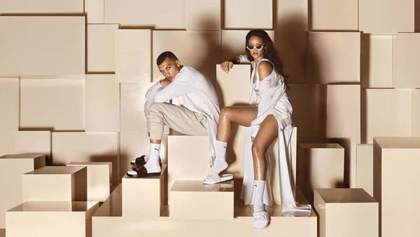 tendances Rihanna claquettes
