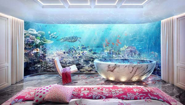 tendance luxe floating seahorses