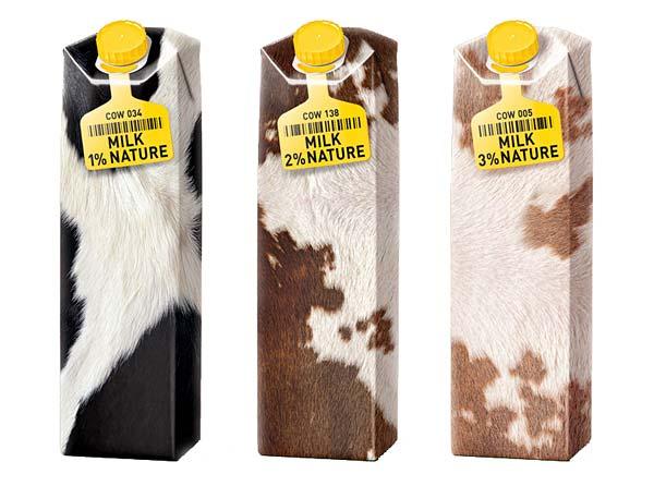 Tendance packaging Milk Nature