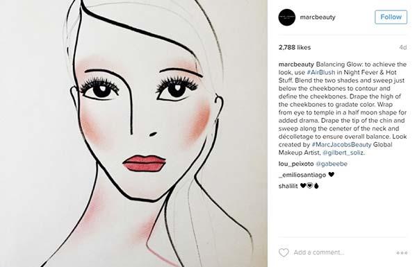 tendance beauté draping instagram marc jacobs