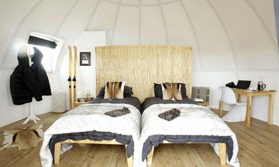 tendance luxe tourisme white desert chambre