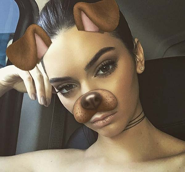 Tendance mode Snapchat Kendall Jenner