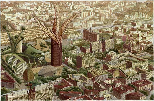 Lyon vue par Luc Schuiten.