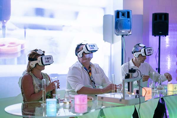 Tendance futurs gastronomie 3D VR