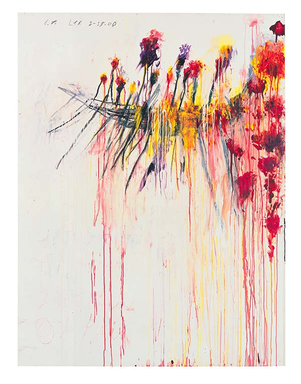 Tendances cultures Cy Twombly