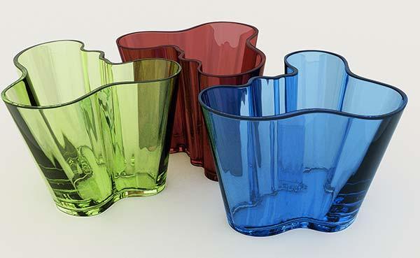 tendance design verre soufflé Alvar Aalto