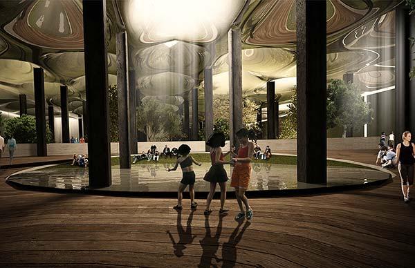 tendances futurs parc souterrain lowline après
