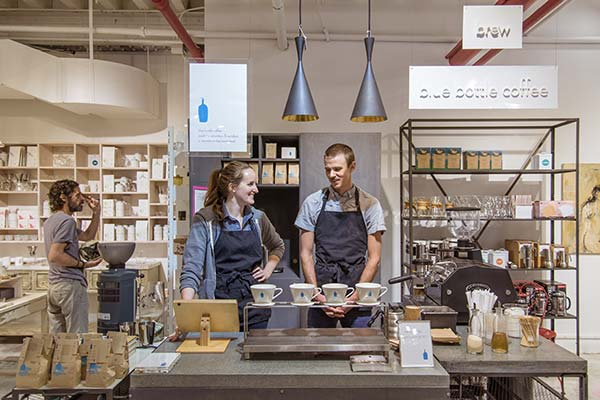 tendance luxe café Blue Bottle