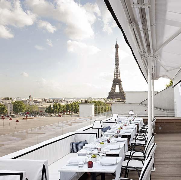 Tendances luxe table avec vue Maison Blanche