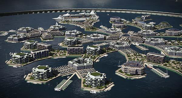 tendances futurs ville flottante Artisanopolis