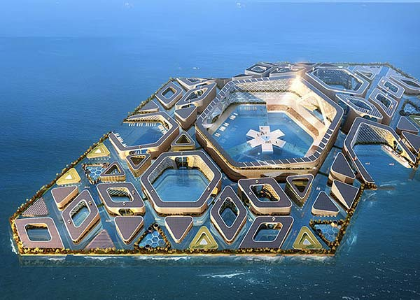 Tendances futurs ville flottante Floating City
