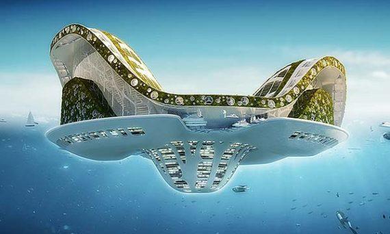 tendances futurs ville flottante Lilypad