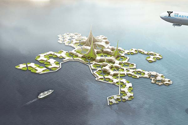 tendances futurs ville flottante Seasteading
