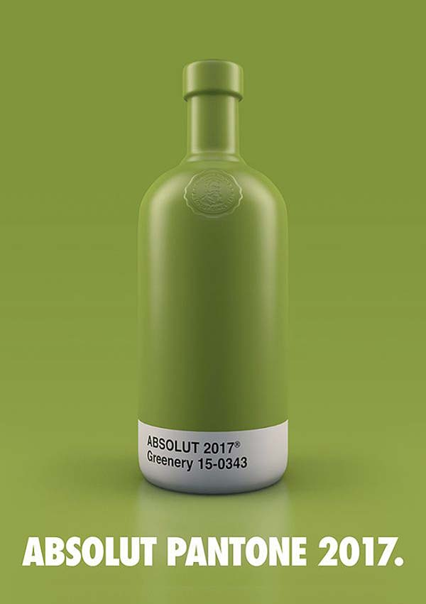 tendances packaging pantone Absolut