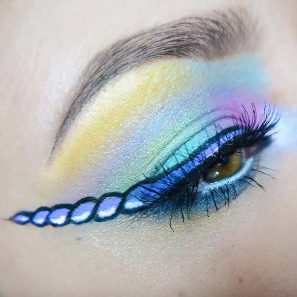 tendances beauté merveilles unicorn eyeliner