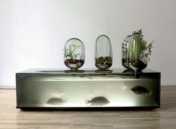 L'aquarium de Mathieu Lehanneur.