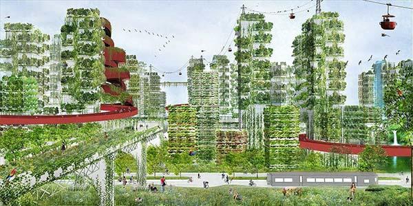 tendances futurs ville forêt Forest City à Shijiazhuang