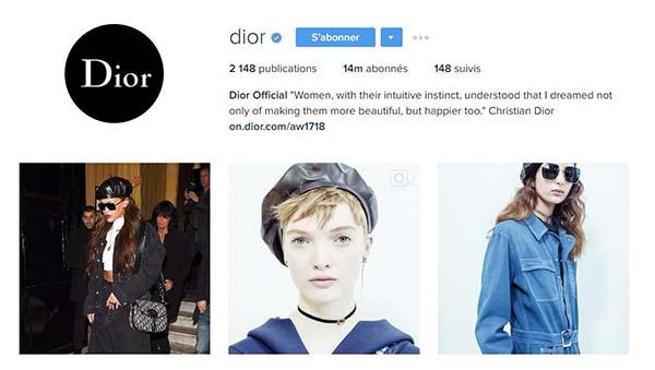 tendances luxe instagram dior