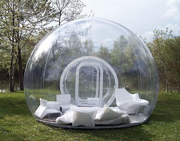 tendances futurs maison bulle Cristal Bubbles