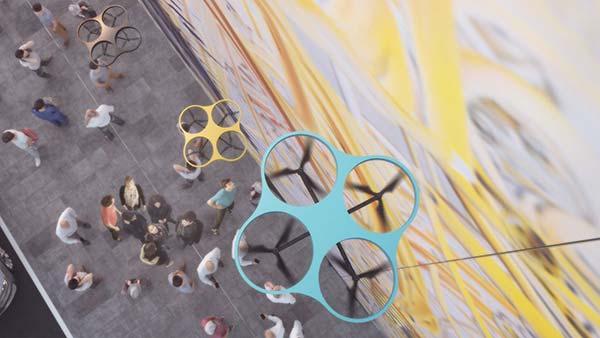 tendances futurs drones créatifs Paint By Drone