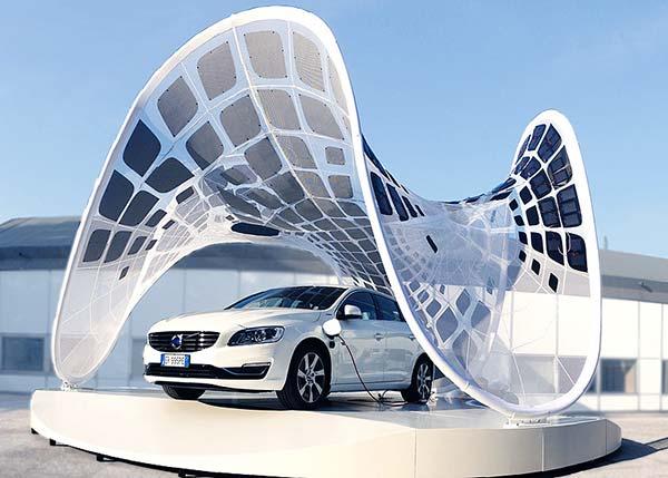 tendances futurs panneaux solaires Volvo