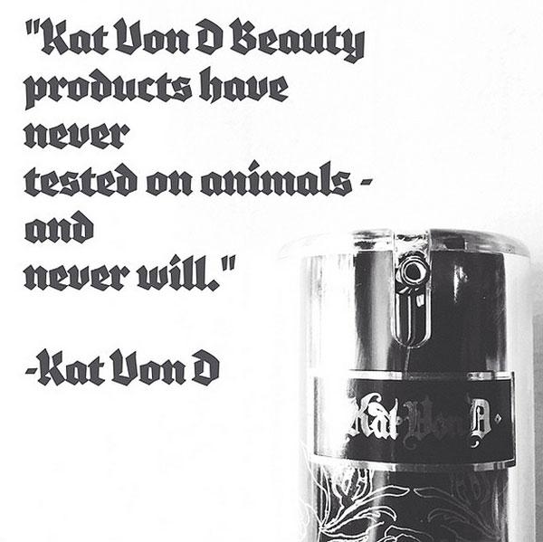 vegan cruelty free Kat von D