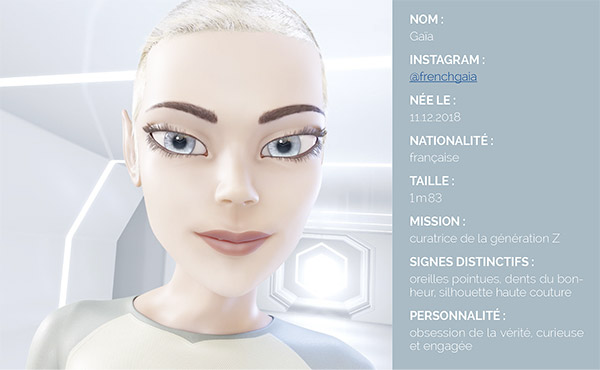 influenceuse virtuelle Gaïa luxe