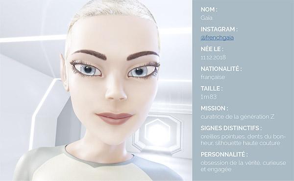 influenceuse virtuelle Gaïa luxe