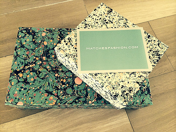 packaging unboxing Matchesfashion