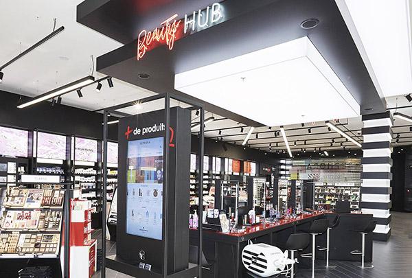 Le hub beauté New Sephora Experience.