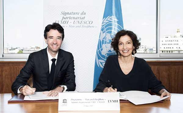 Nouveau contrat pour Antoine Arnault ? Non, la signature du programme MAB de l'UNESCO.