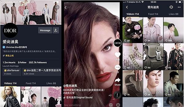 Dior, à fond sur TikTok en Chine.