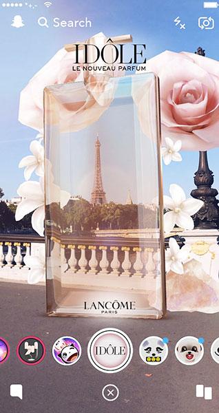 Idole de Lancôme en réalité augmentée.