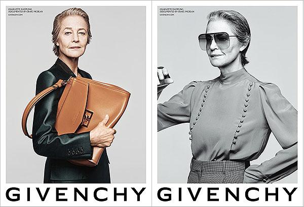 Charlotte Rampling transcende Givenchy.