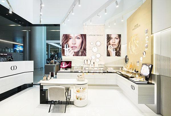 La boutique Dior.