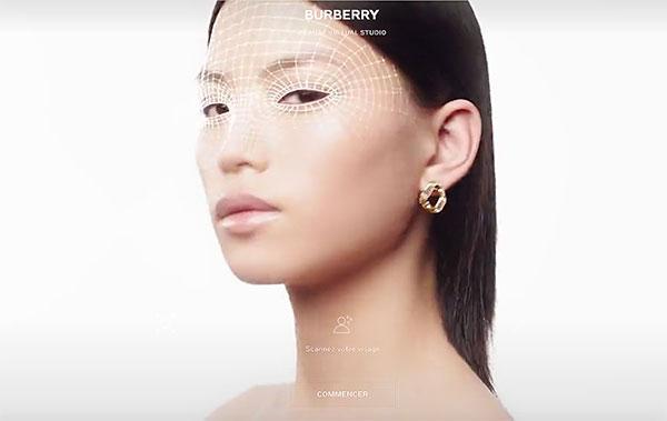 Scan du visage chez Burberry.