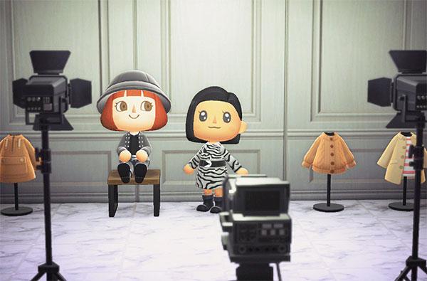 On est heureux sur l'île Net-à-Porter d'Animal Crossing.