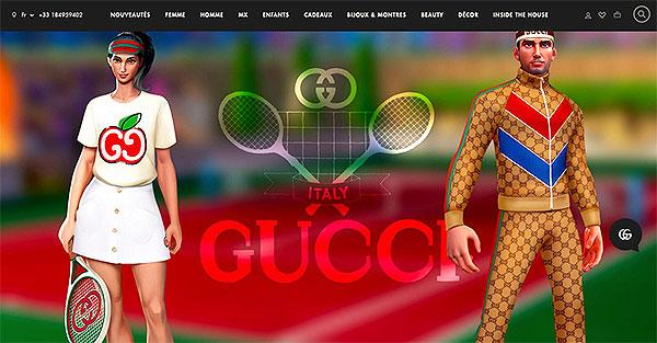 Une partie de Tennis Clash en Gucci.