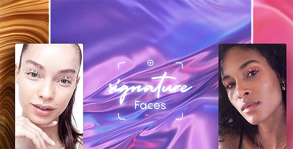Signature Faces de L'Oréal, pour une visioconf' du futur.
