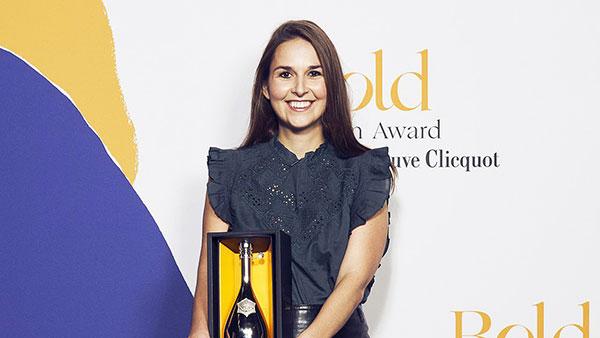 Le Bold Woman Award Veuve Cliquot pour Juliette.