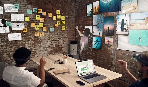 Spatial, la plate-forme de collaboration qui permet de se réunir dans un environnement en réalité augmentée.